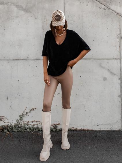 Černý svetřík APPEARY s krátkým rukávem