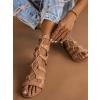 Růžové šněrovací sandálky LACE