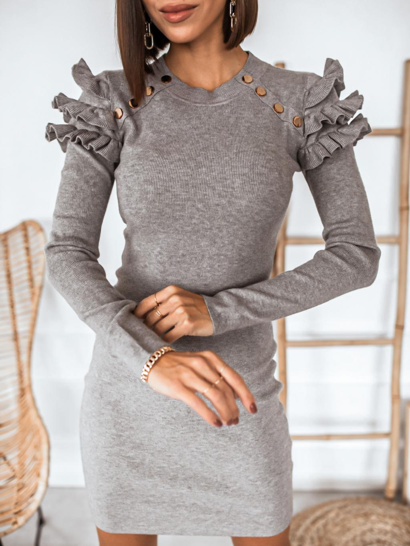 Šaty Lucette (Barva Tmavě růžová)