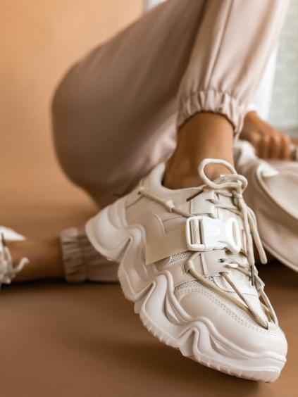 Béžové módne tenisky STAMP (Velikost 41)