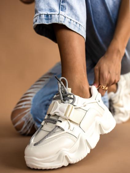 Biele módne tenisky STAMP (Velikost 41)