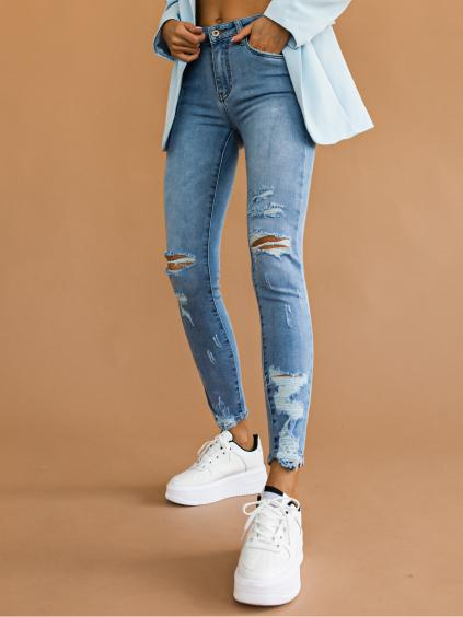 Svetlomodré džínsy RIVAL (Velikost XS)