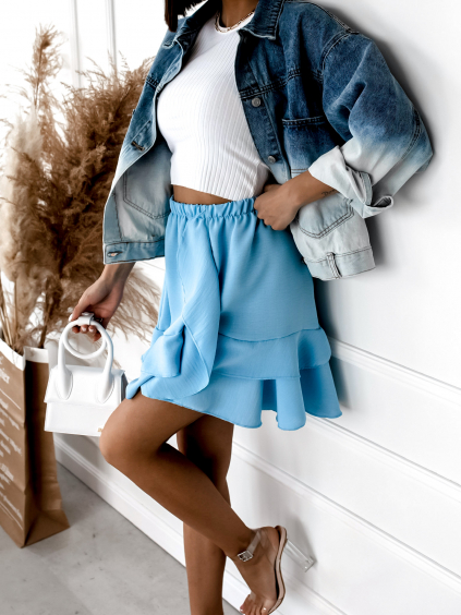 28389 1 svetle modra kratsi sukne picture s volanky