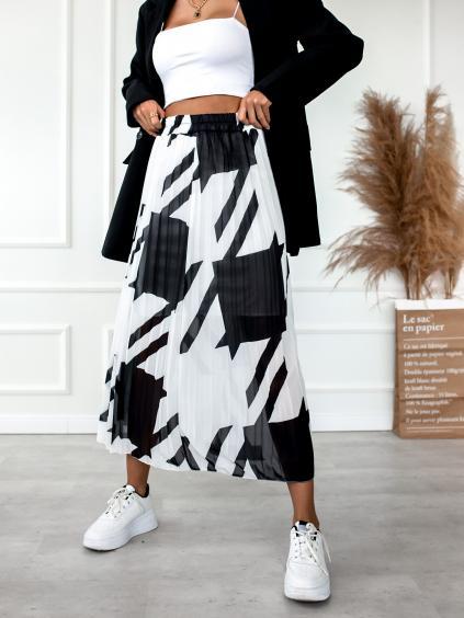 30930 2 cernobila prekladana sukne star se vzorem