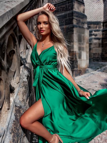 30198 zelene elegantni dlouhe saty fairytale