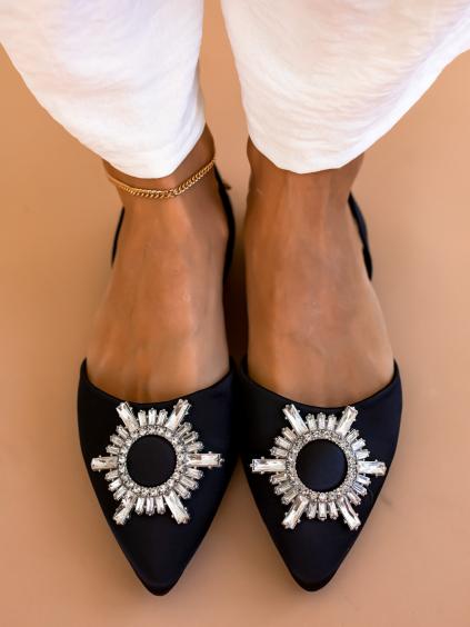 Čierne topánky JUDITH s uzavretou špičkou (Velikost 41)