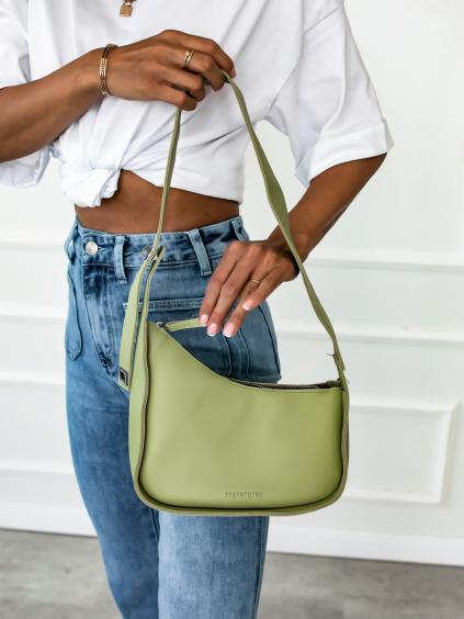 30018 2 zelena kabelka rough pres rameno