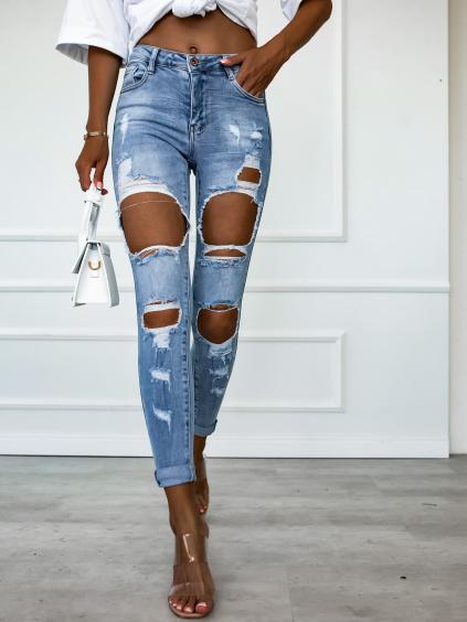 Modré džínsy GALLY (Velikost XS)