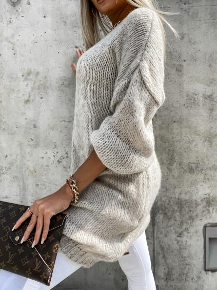 36330 2 bezovy delsi pleteny svetr audelia