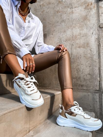 Biele módne tenisky EMPLOY (Velikost 41)