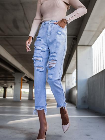Svetlomodré džínsy AVALIA (Veľkosť XS)