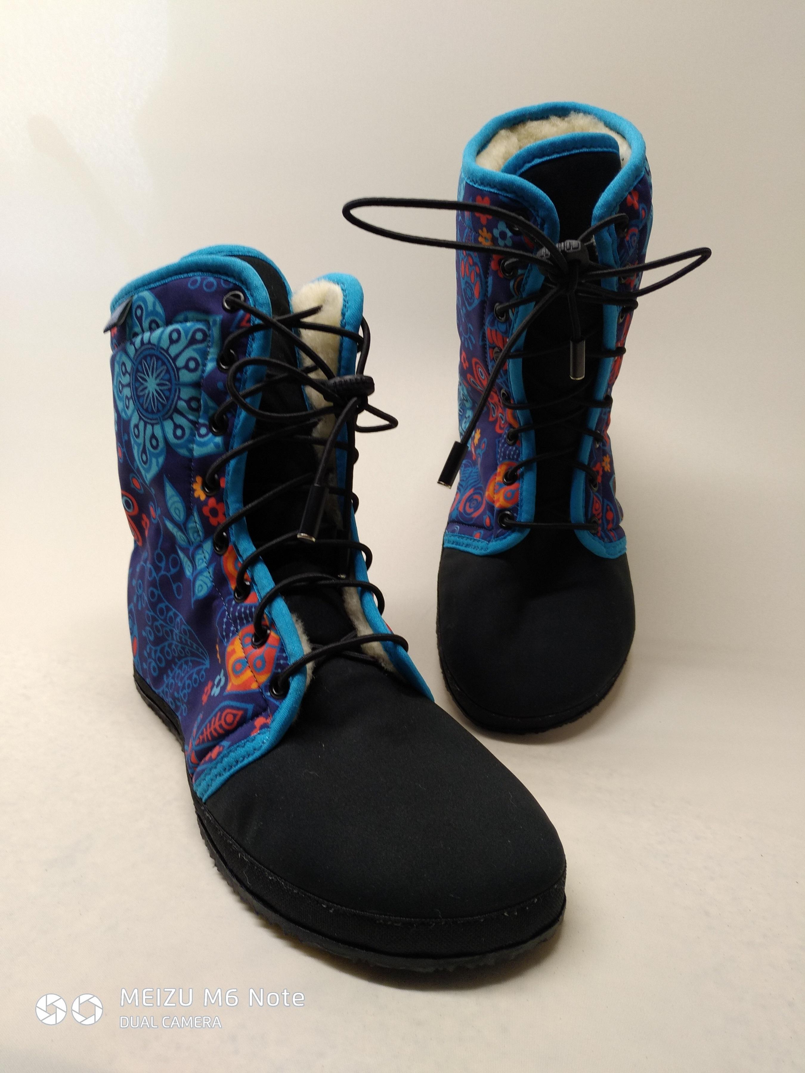 Barefoot zimní vysoké boty
