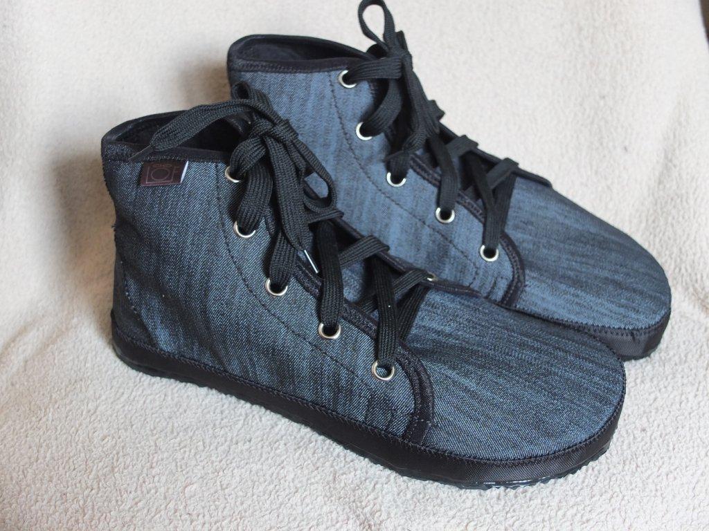 Barefoot kotníčkové boty riflové