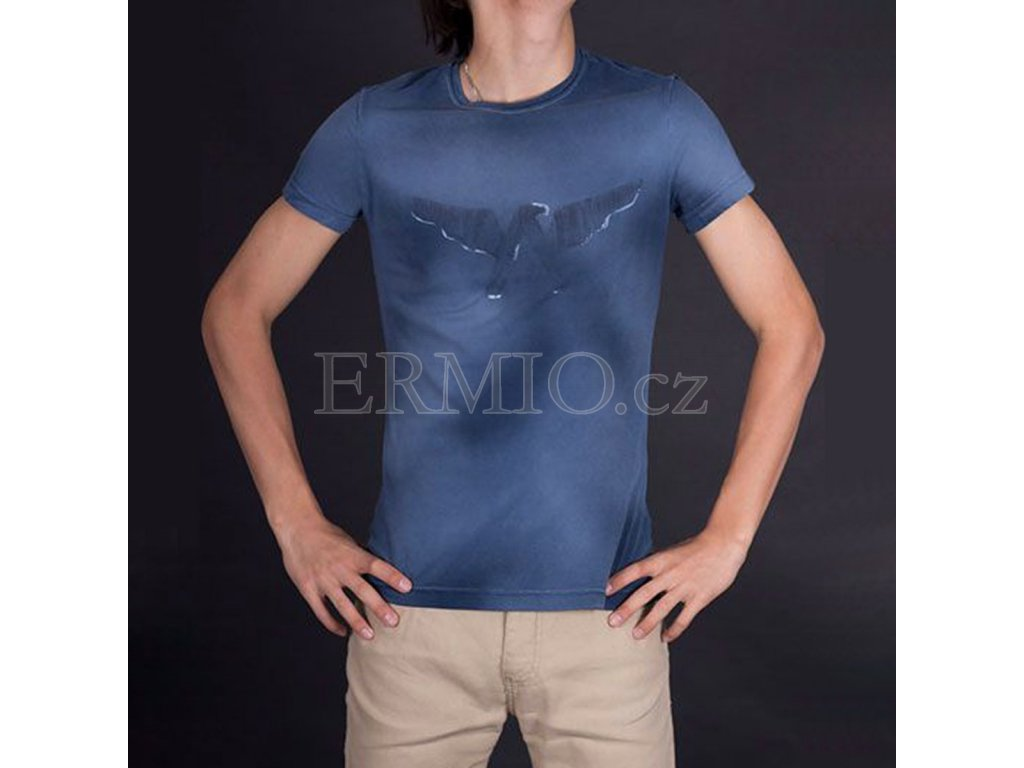 Módní pánské triko Armani modré