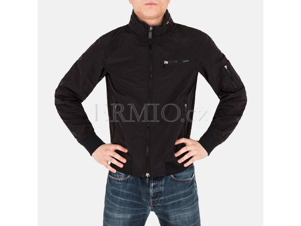 Luxusní Bunda pánská černá Armani v e-shopu   Ermio Fashion f1e2ac19fc