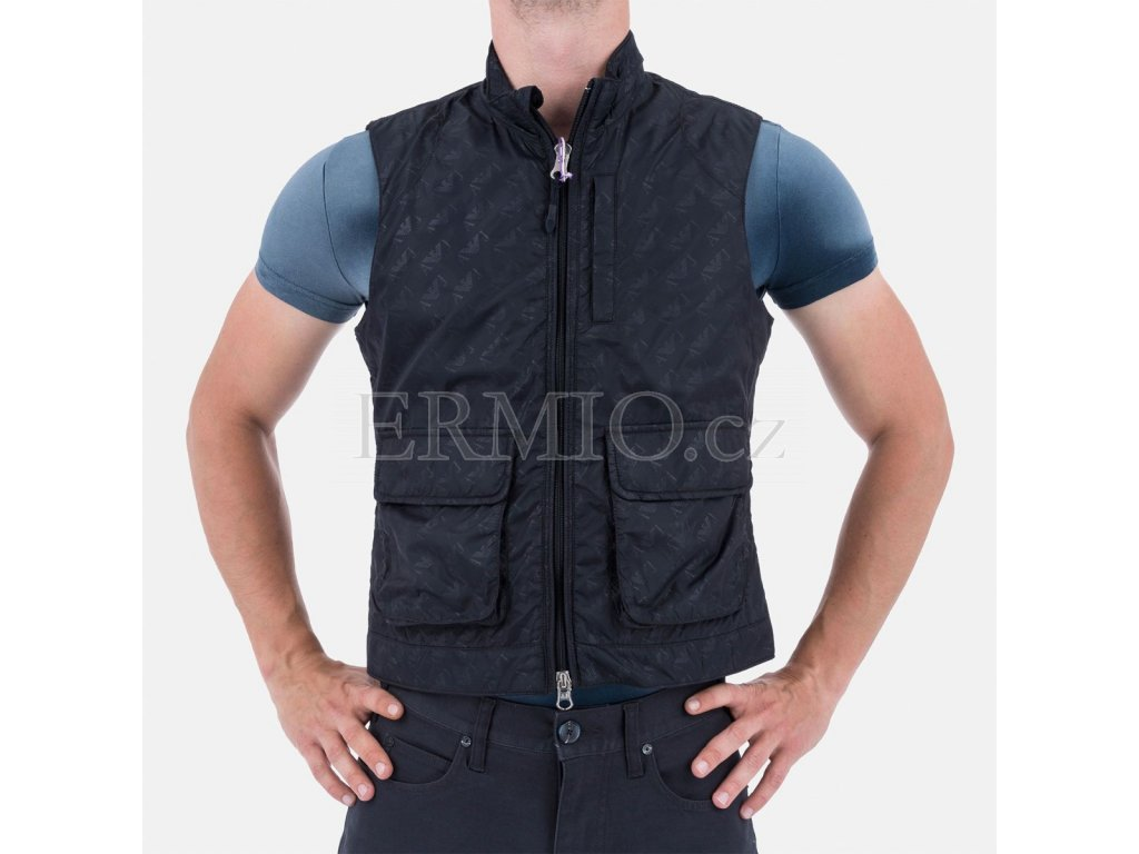 Pánská vesta Armani modrá