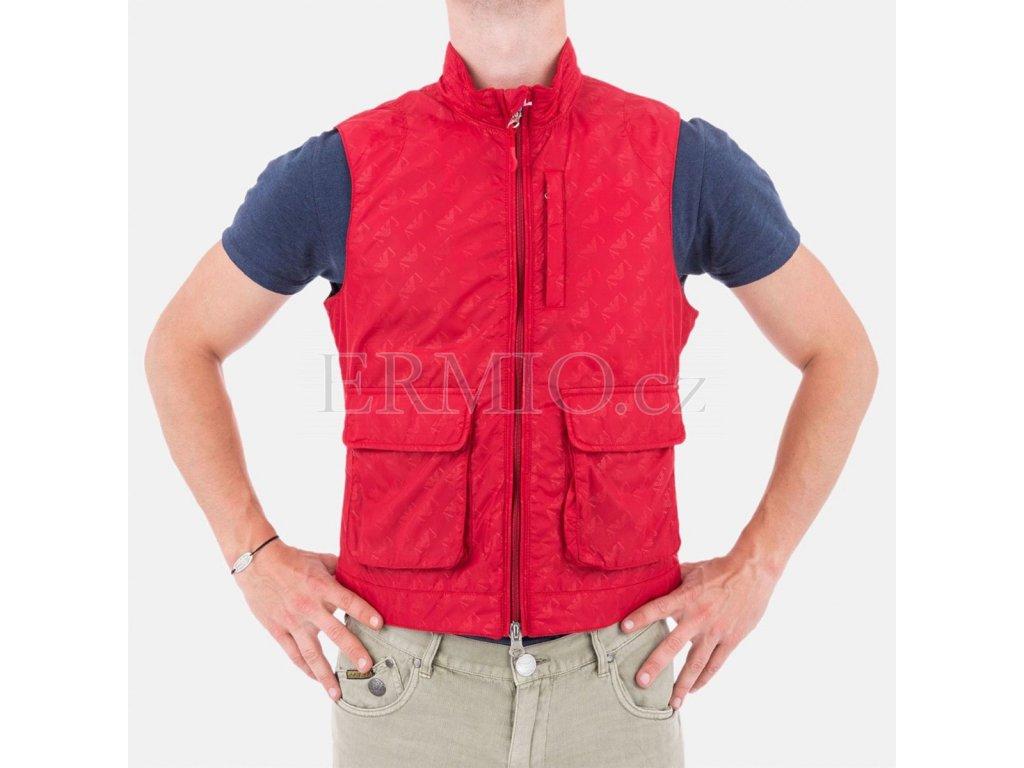 Pánská vesta Armani červená
