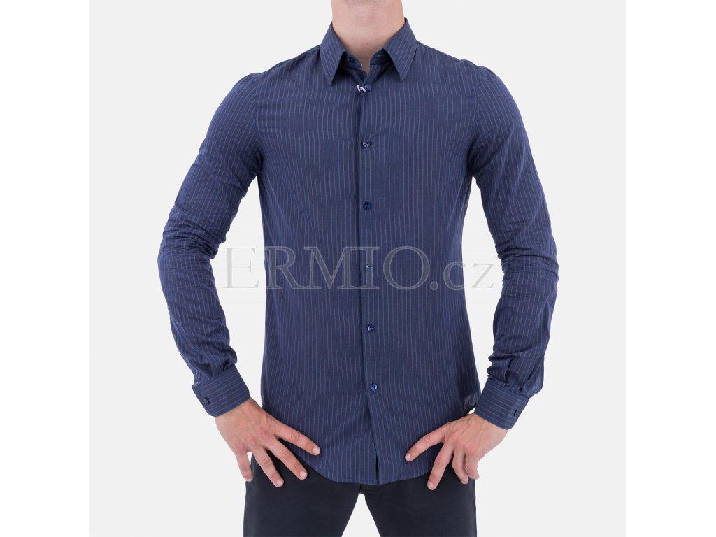 Luxusní Košile pánská Armani modrá v e-shopu   Ermio Fashion adba20ef26