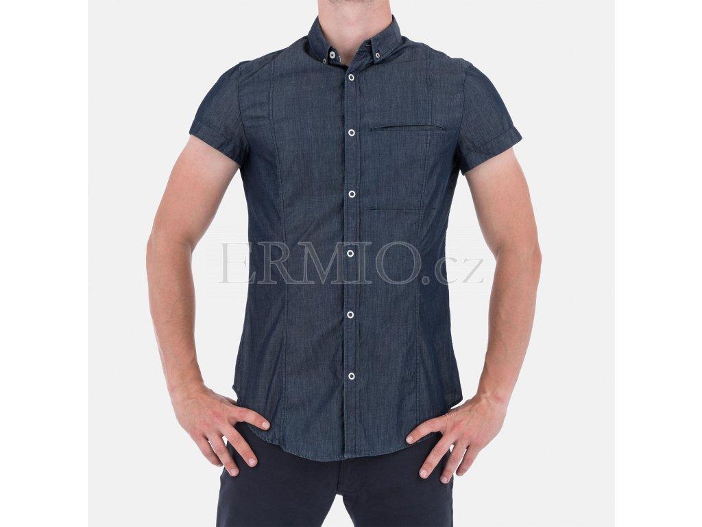 Pánská košile Armani modrá