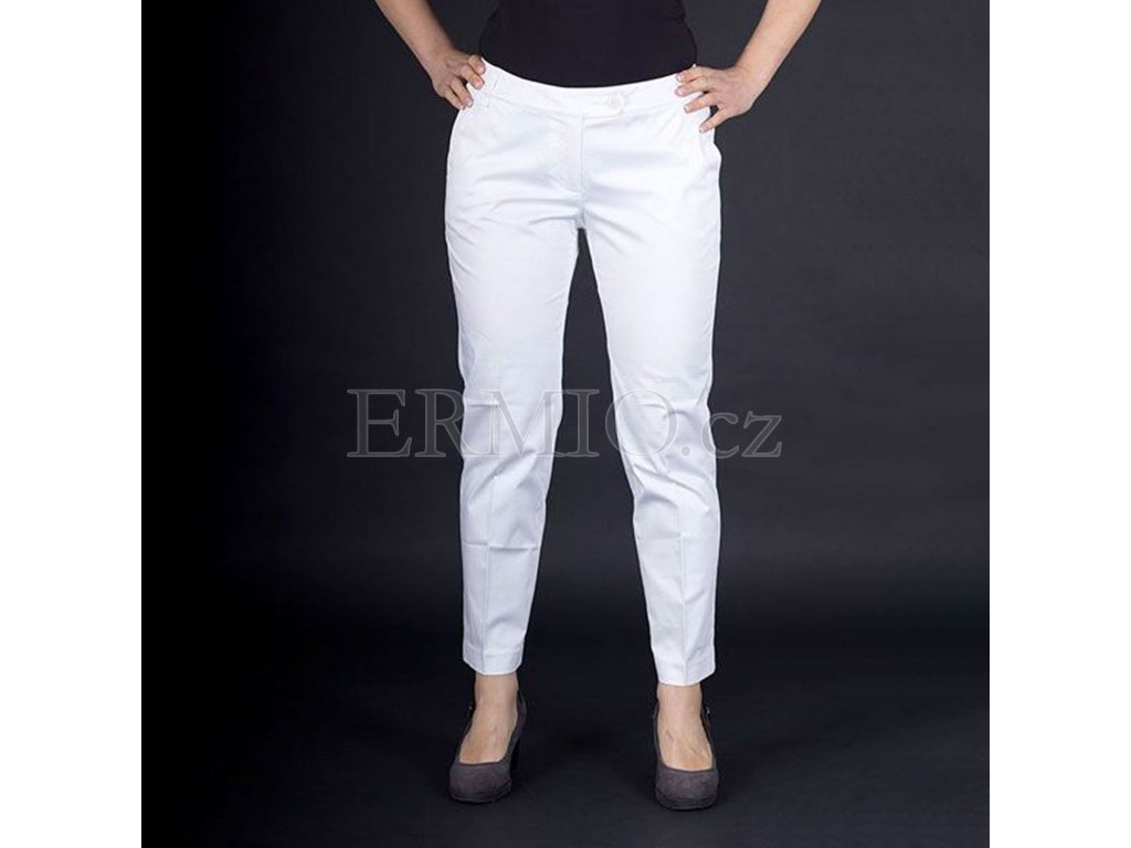 Kalhoty dámské Armani bílé