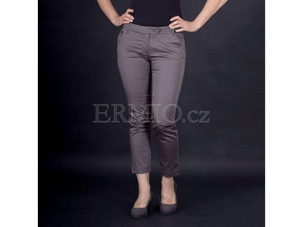 Značkové dámské kalhoty Armani hnědé