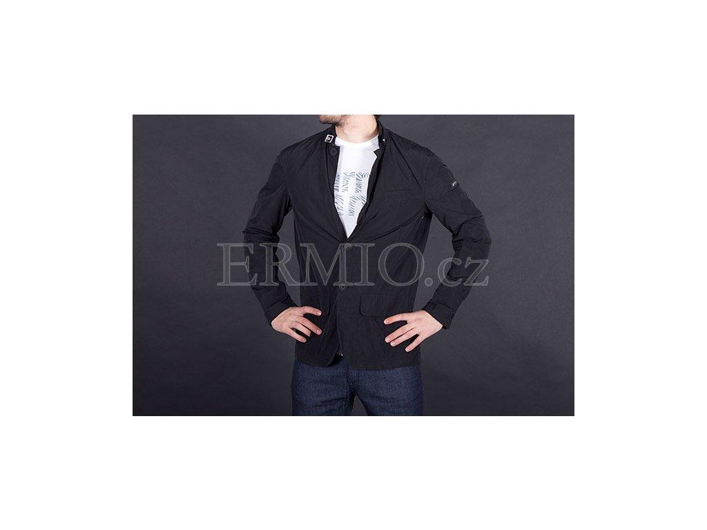 Luxusní černá pánská jarní bunda Armani Jeans