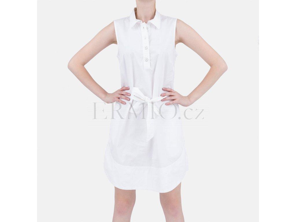 Luxusní letní šaty Armani bílé