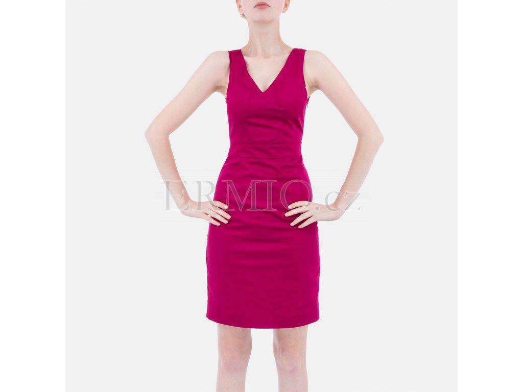 Luxusní společenské šaty Armani malinové