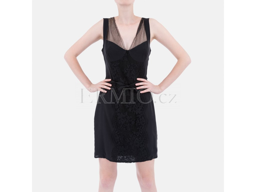 Luxusní koktejlové šaty D&G černé