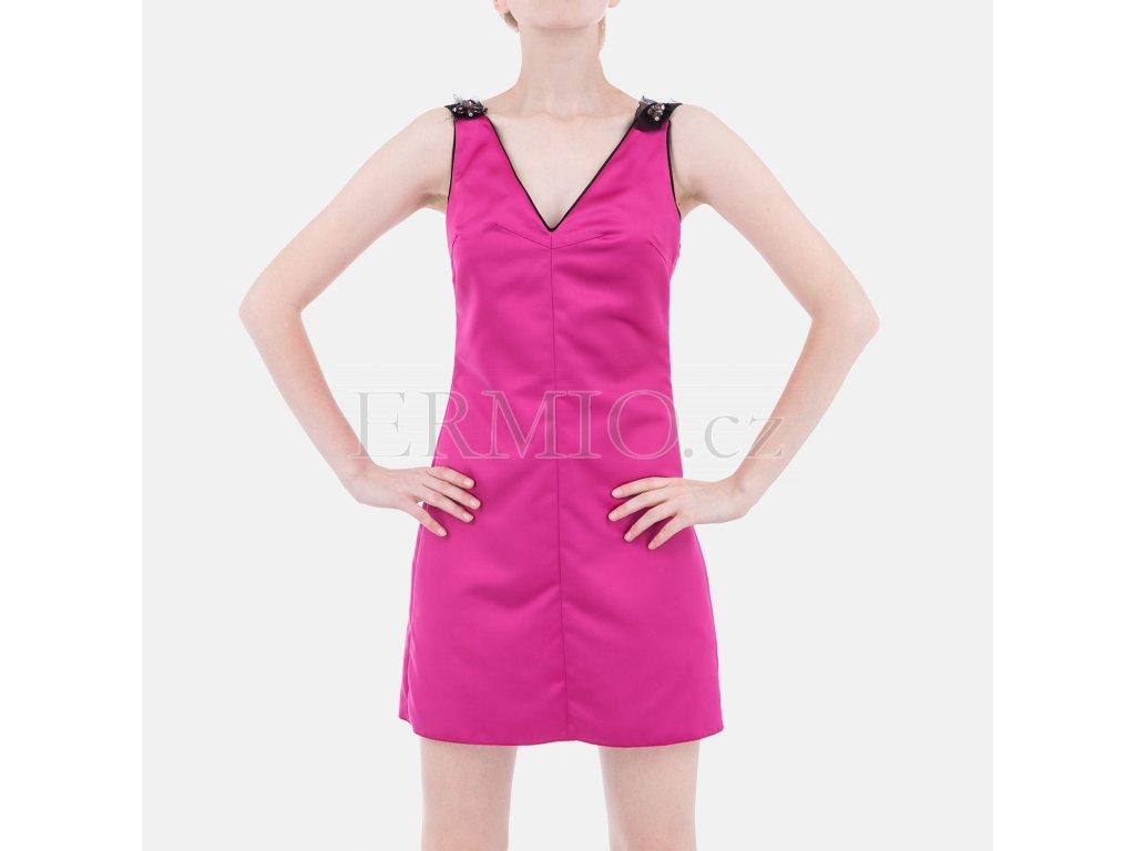 Luxusní koktejlové šaty D&G růžové