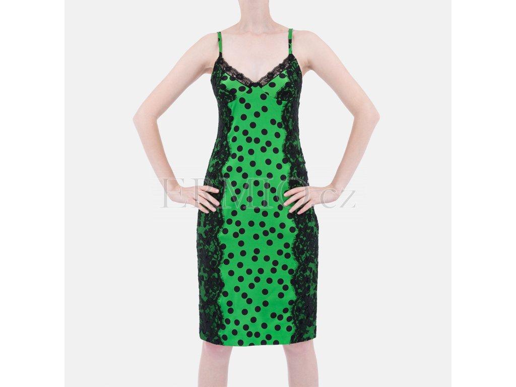 Modní plesové šaty D&G zelené
