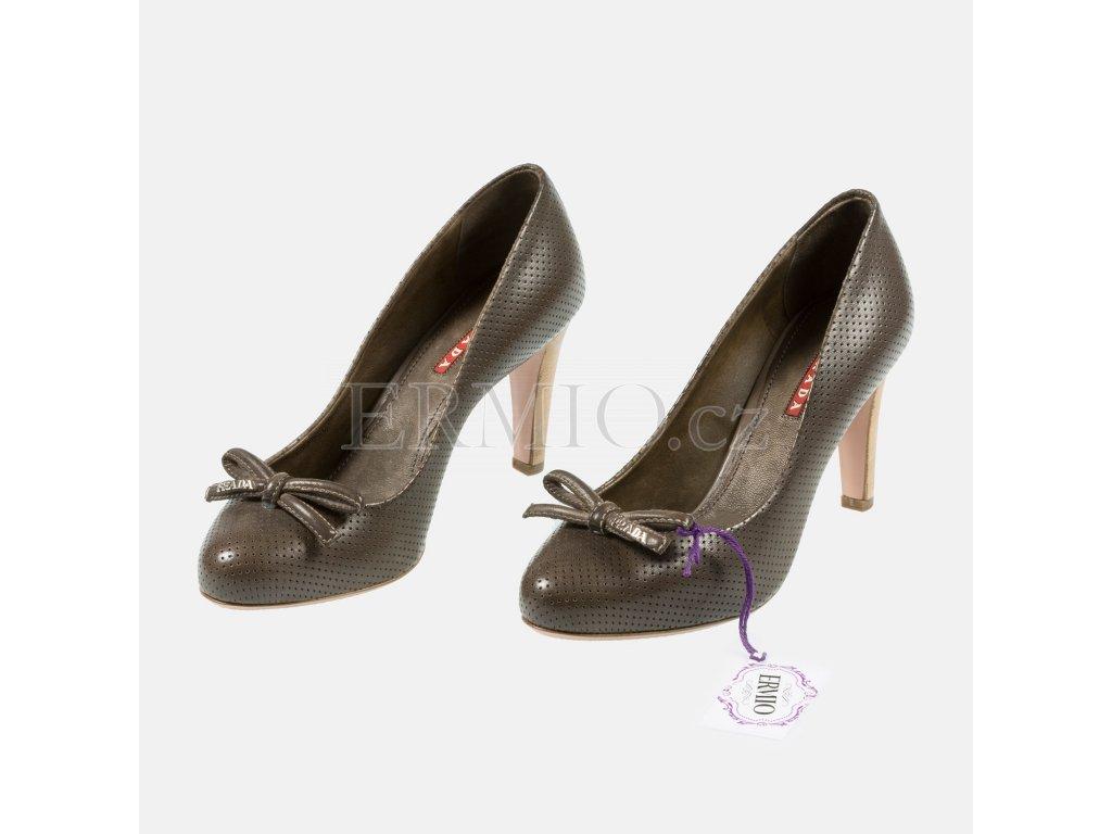 Luxusní Značkové Lodičky PRADA hnědé v e-shopu   Ermio Fashion ce0497aa7d