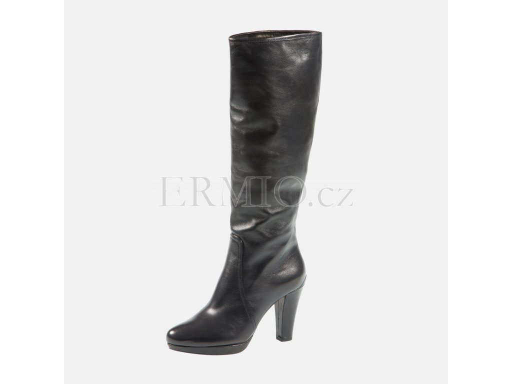 Luxusní Dámské značkové kozačky PRADA černé v e-shopu   Ermio Fashion a2ab4f80402
