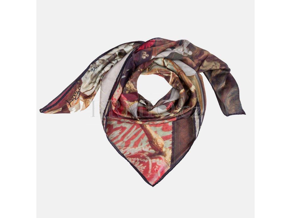 Stylový šátek Vivienne Westwood hnědý