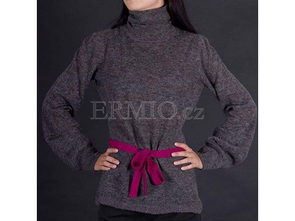Vlněny svetr Armani šedý