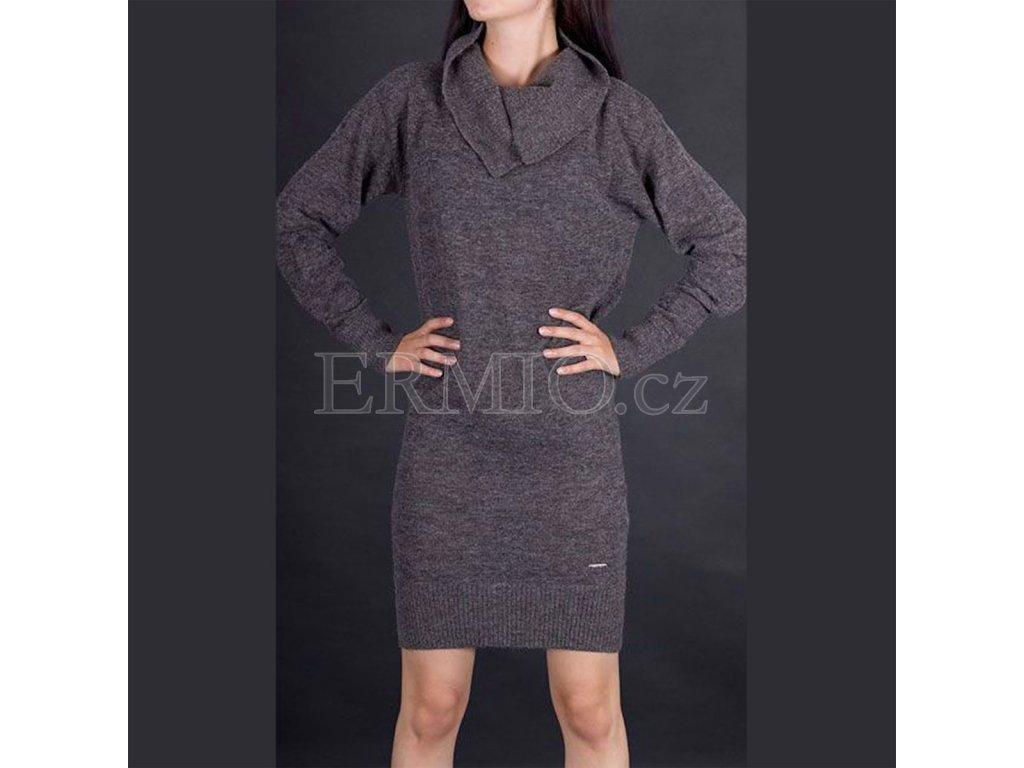 Pletené šaty Armani šedé