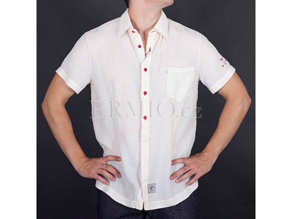 Letní pánská košile Armani krémová