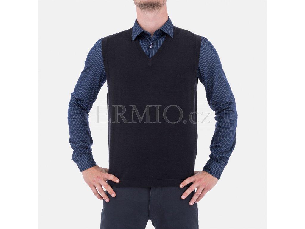 Značková pánská vesta Armani modrá