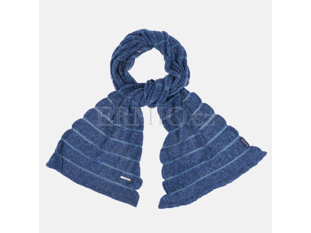 Luxusní Vlněná dámská šála Armani modrá v e-shopu   Ermio Fashion cbfc509b4f