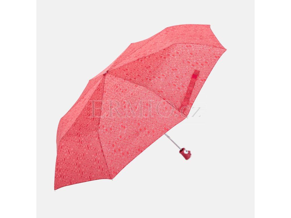 Značkový deštník GFF červený