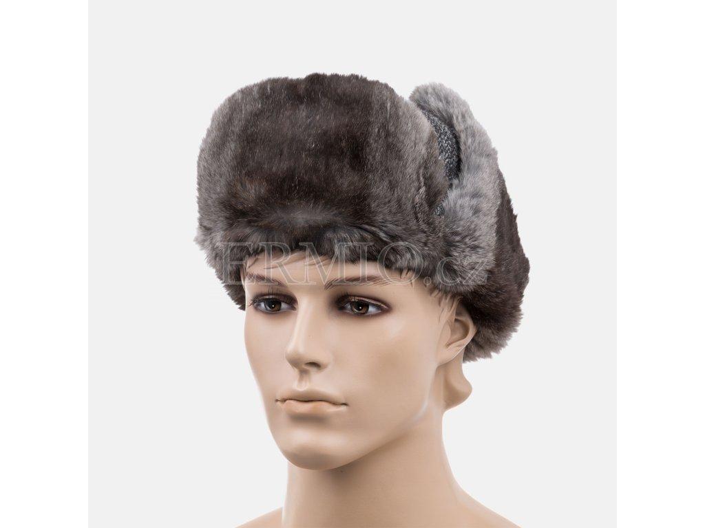 Stylová ušanka Dolce&Gabbana šedá