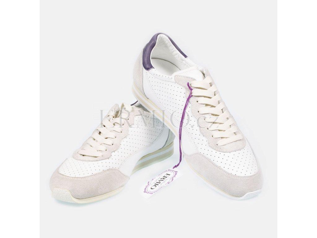 Kožená obuv Dolce&Gabbana bílá