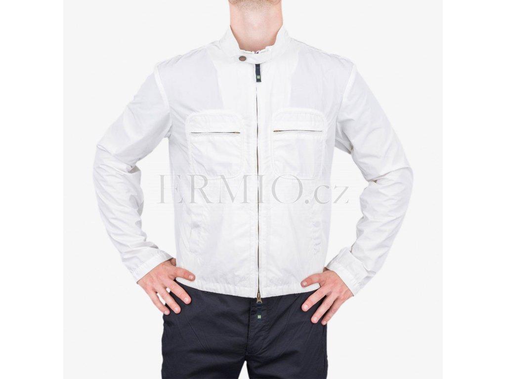 Značková pánská jarní bunda Armani Jeans bílá