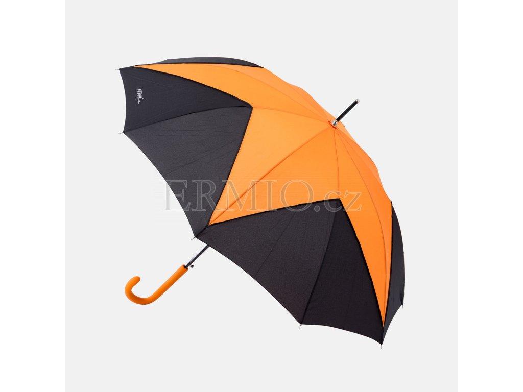 Oranžovo-černý deštník GF Ferre