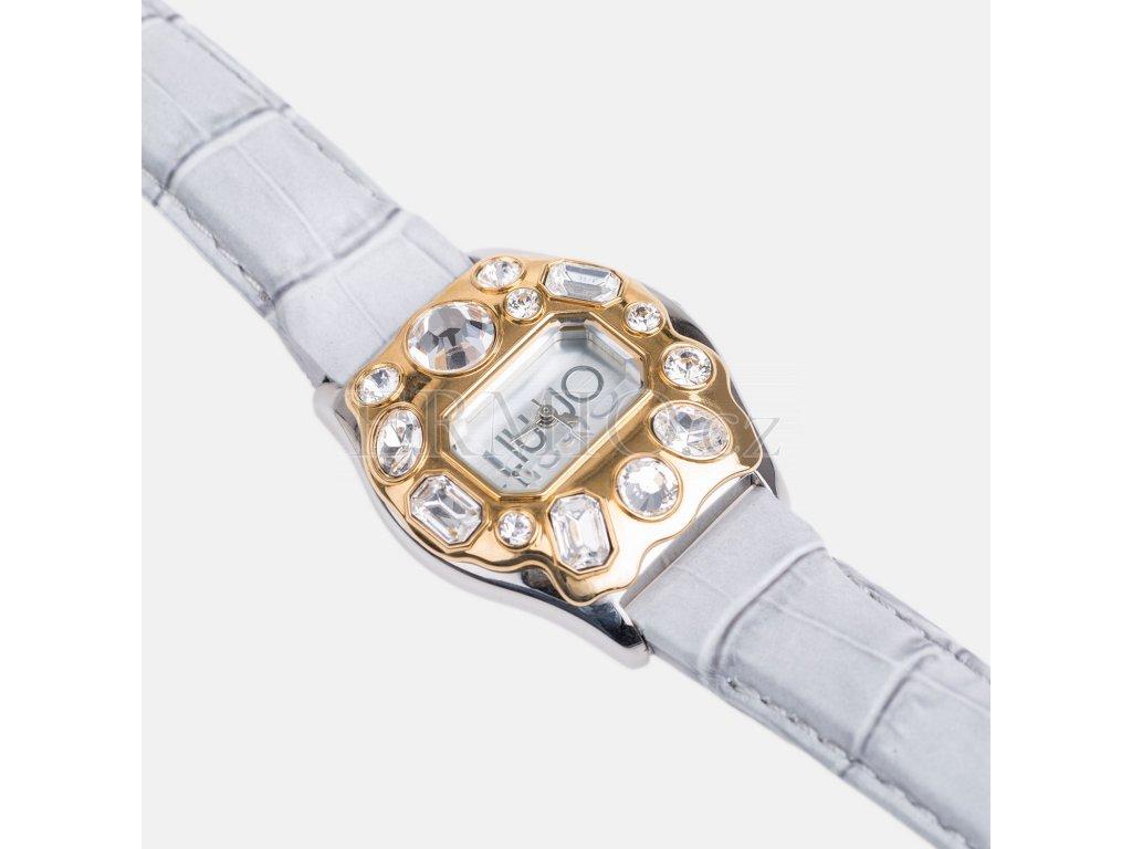 Exkluzivní šedé hodinky Liu-Jo s kamínky