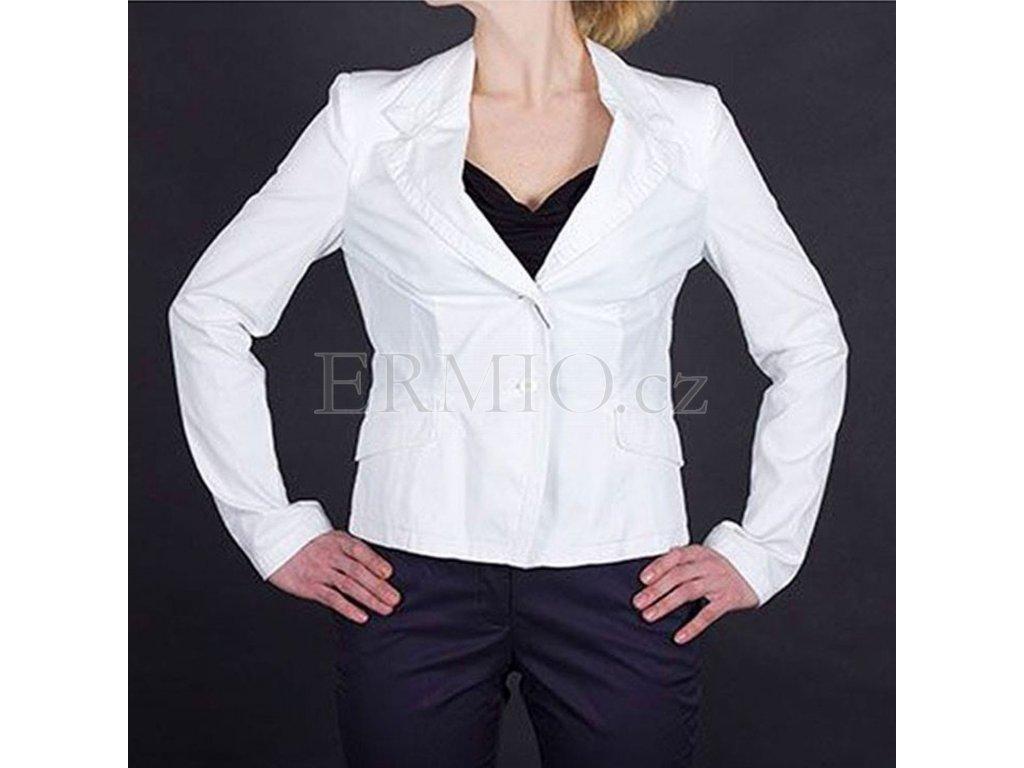 Půvabné dámské sako Armani bílé