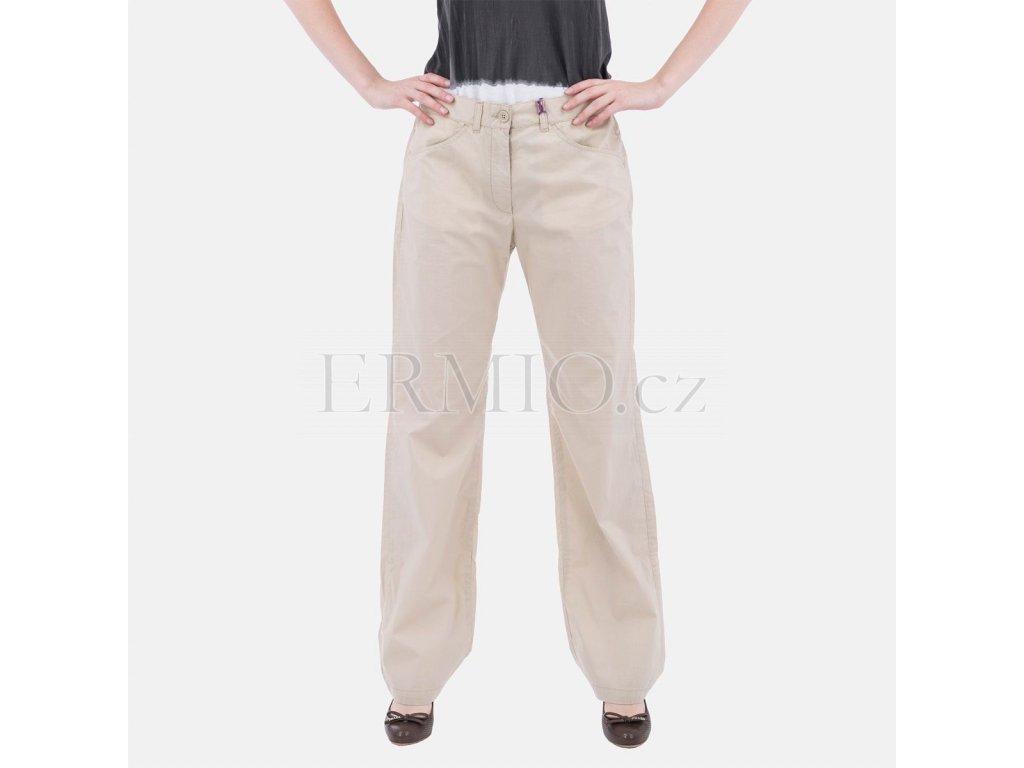 Letní straight jeansy Calvin Klein béžové