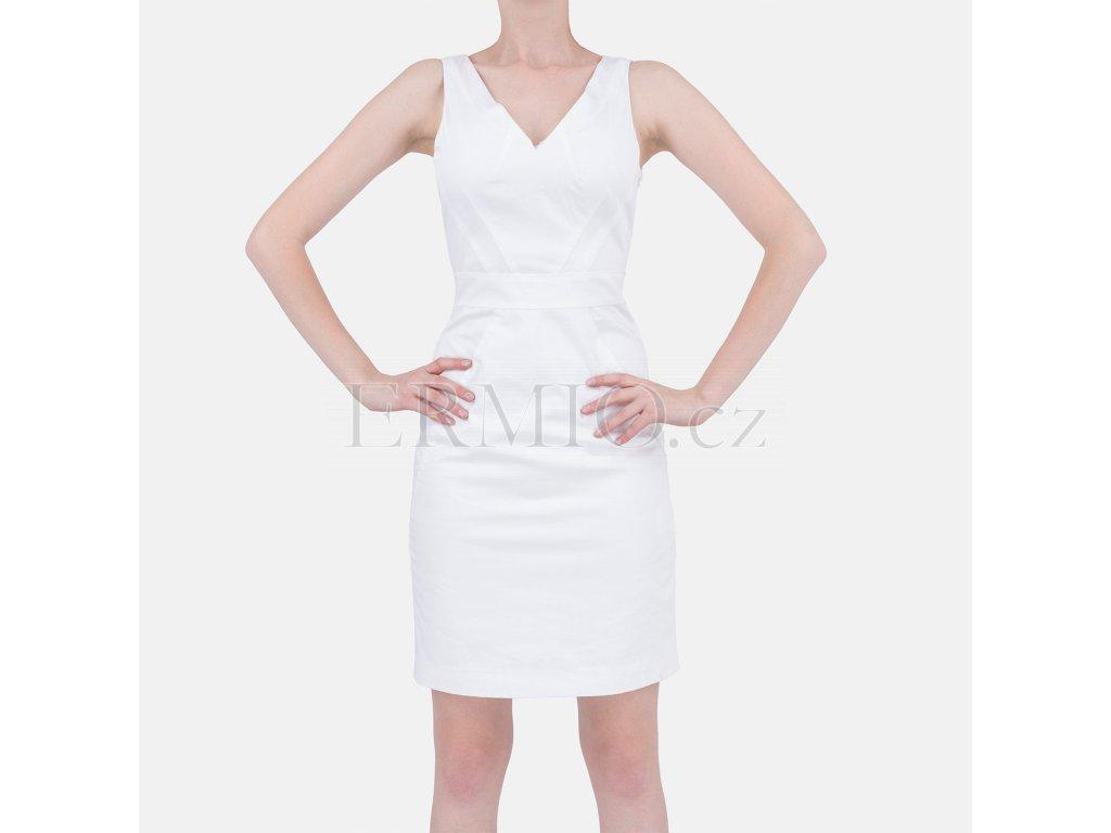 Pouzdrové šaty Armani bílé