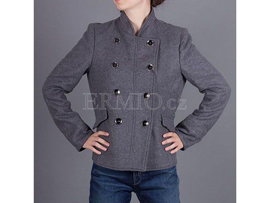 Šedý kabát Armani Jeans