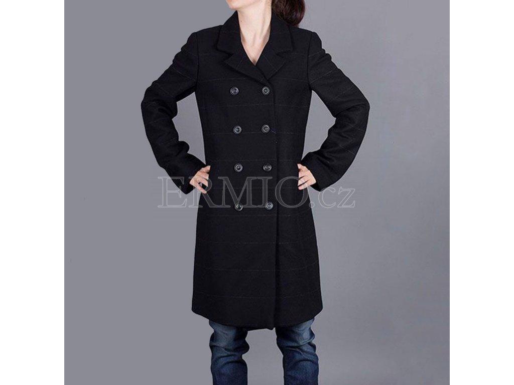 Dámský černý kabát Armani Jeans